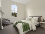 architecture chic bedroom interior in Launceston Tasmania heritage home