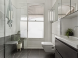 architecture interior contemporary frameless glass shower screen in Launceston Tasmania heritage home thumbnail